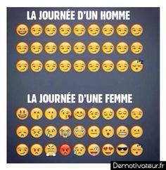 Journee d'un homme et d'une femmes en emotions :)