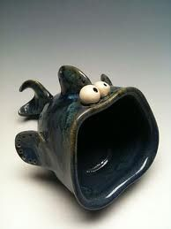 Big mouth monster project ~ use pinch pots
