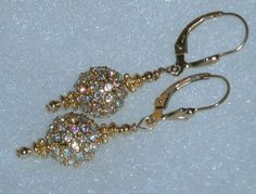 14 kt GF Swarovski Crystal AB Sparkle Dangle by dsmenagerie