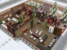 Winter wonderland #sims freeplay cottage house idea