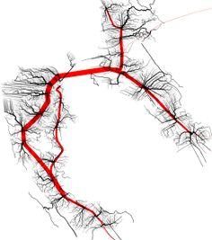 Multimodal Shortest Path Tree of Bay Area (via @graphserver)