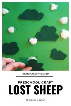 Teach your children about Jesus' love for us with this great parable of the lost sheep craft. Fun for toddlers and preschoolers. #preschoolcraft #lostsheepcraft #biblecraft Easy Toddler Crafts, Toddler Fun, Toddler Preschool, Preschool Activities, Sunday School Activities, Bible Activities, Indoor Activities For Kids, The Lost Sheep, Sheep Crafts