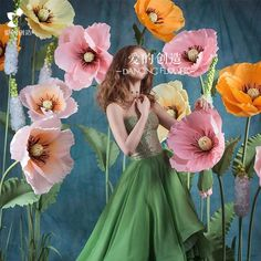 Wedding window decoration props layout stage studio with a three-dimensional hand-guided paper art flower wrinkle paper flower - Taobao