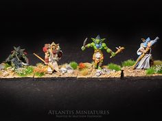 It's time to feature another competitor in the Cleric, Fighter, Wizard, Rogue Miniature Painting Tourney. Today's Gobliny Ensemble Shot is submitted by, Atlantis Miniatures! You can find them here: https://www.atlantisminiatures.com/ Make sure you vote during AetherCon all weekend long to have your say on who is the best. The more you vote, the more chances you have to win! www.aethercon.com
