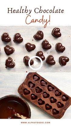 Chocolate Candy Recipes, Healthy Chocolate Desserts, Chocolate Videos, Making Chocolate, Chocolate Candies, Chocolate Filling, Love Chocolate, Vegan Chocolate, Vegan Sweets