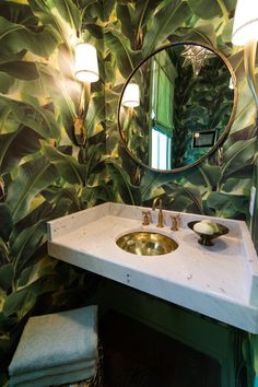 Tropical Wallpaper powder room tropical with polyester bath mats