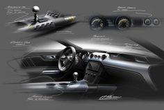 2015 Ford Mustang - Interior design sketches - Theme B Development