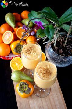 Koktajl z owoców kaki, pomarańczy i gruszek http://fantazjesmaku.weebly.com/blog-kulinarny/koktajl-z-kaki-pomaranczy-i-gruszek