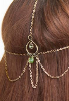 We love this beautiful goddess hair jewelry. It's elegant and easy!