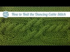 For written directions and pictures please go to: This video knitting tutorial will make it easier to learn to knit the dancing cable sew. This dancing cable has a intriguing twisting look. Knitting Stiches, Cable Knitting, Knitting Videos, Crochet Videos, Knitting Yarn, Knitting Projects, Knit Stitches, Easy Knitting, New Stitch A Day