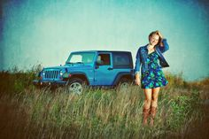 sr pic with jeep Senior Photos Girls, Senior Girls, Senior Pictures, Red Jeep, Blue Jeep, Cute Poses For Pictures, Girl Pictures, Jeep Wrangler Girl, Jeep Wranglers