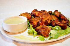 Τηγανητό κοτόπουλο με μαρινάδα κρεμμύδι, σκόρδο Tandoori Chicken, Food To Make, Meat, Ethnic Recipes