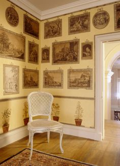 18th century Print Room at Uppark
