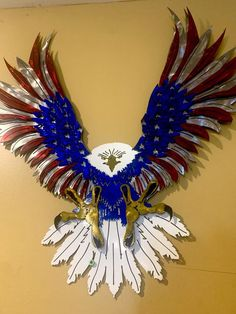 Eagle Wall Art, American Flag Metal Sign,Gift For Him Home Decor, Eagle Metal Sign, Christmas GiftMulti layered 16Ga Steel 2-3 weeks turn around timeMills Farm Nebraska is licensing this design from Lethal Threat Designs. Camping Fire Pit, American Flag Eagle, Military Gifts, Metal Signs, Nebraska, 3 Weeks, 4th Of July Wreath, Metal Art, Bald Eagle