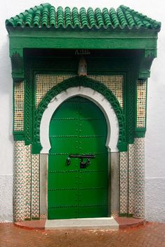 Door to a Tangiers mosque by Nadler Photography