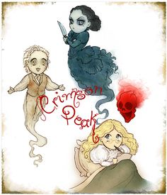 lunariagold: Crimson Peak would be so perfect as an animated series (I mean Beetlejuice managed to spawn a cartoon so why not?).Every  episode, Edith has to solve some problem with ghosts and hauntings.  Ghost-Thomas helps her out and Ghost-Lucille usually tries to thwart her  plans and/or just plain get her killed (until Thomas inevitably resorts  to puppy eyes and pointing out that she still owes him for killing him  and stuff…). After every adventure is completed, Edith writes a…