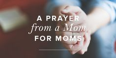 Mothers of all stages and ages need our prayers whether they have biological, adopted, or spiritual children. Let's take time to unite our hearts for God's grand plan of motherhood entrusted to women.