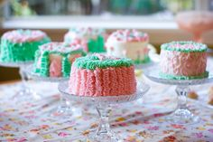 Cake decorating party - homemade cake stands from 2 dollar tree items
