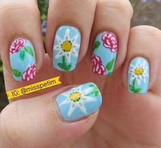 Bild über We Heart It https://weheartit.com/entry/120903240 #flowers #nail #nailart #nailpolish #nails #roses #spring #summer