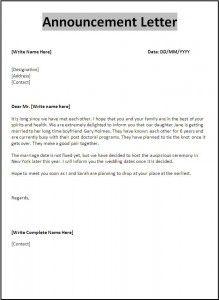 5 Announcement Letter Templates Letter Templates Free Letter