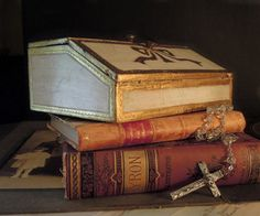 Vintage Italian Florentine Wood Box / Letter by AloofNewfWhimsy