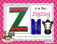 Z is for Zigzag Cut and Paste Freebie