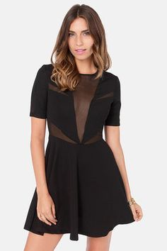 Lucca Couture Zip Your Lips Cutout Black Dress at LuLus.com! #lulusrocktheroad