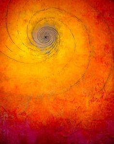 golden orange spiral