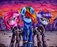 Equestria Daily: Drawfriend Stuff #1732 - Super Colorful BATTLE These are some bad ass ponies right here!