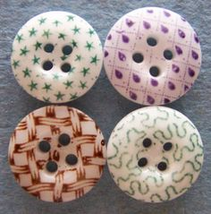 Antique Calico China Buttons