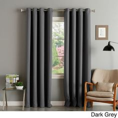 These light-blocking, thermal-insulated curtain panels are featured in a variety of warm colors. The modern look with soft lines makes your living space cozy, the 100-percent polyester construction makes these blackout curtains easy to clean.