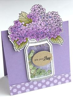 It's Your Day Shaker Card by Heather Nichols for Papertrey Ink (June 2015)