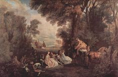 The Halt during the Chase by @artistwatteau #rococo