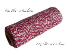 Bäcker-Garn Bakers Twine rot von Fitzi Flöt auf DaWanda.com