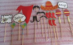 Cinco de Mayo Photo Booth Props 18 Piece by BohemianLillyDesigns
