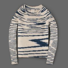 MILL MERCANTILE - BILLY REID - Sketch HK Sweater in Navy and Cream