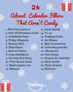 24 Advent Calendar Fillers