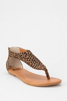 BC Footwear Back-Zip Thong Sandal from Urban Outfitters Leopard Print Sandals, Leopard Shoes, Cheetah Print, Buy Shoes, Me Too Shoes, Nike Shoes, Wedge Boots, Shoe Boots, Womens Golf Shoes