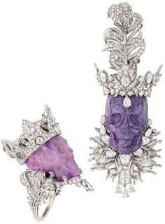 Skulled Jewelry - Christian Dior Joaillerie 'Kings & Queens' Collection Integrates Opal, Jade, Quart (GALLERY)