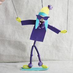 Snowboarder puppet