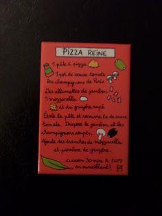 Aimant pizza reine