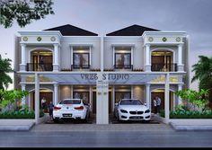 3D-visualizer: Desain rumah modern klasik 2 lantai