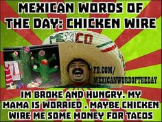 .she could Mexican Word Of Day, Mexican Words, Word Of The Day, Jokes Pics, Jokes Quotes, Funny Quotes, Funny Memes, Funny Mexican Quotes, Mexican Humor