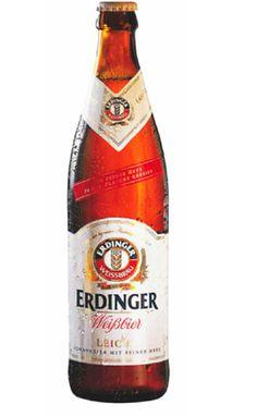Cerveja Erdinger Weissbier Leicht, estilo German Weizen, produzida por Erdinger Weissbräu, Alemanha. 2.9% ABV de álcool.