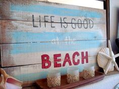 Easy to make for my beach bedroom makeover!! Strauss