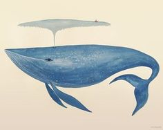Wheatpaste Art Collective Big Blue Whale by Sana Park Posters That Stick Wall Decal, 24 by 18-Inch