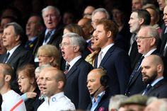 Prince Harry Photos Photos - Prince Harry takes part in the national anthem prior to kick off during the RBS Six Nations match between England and Scotland at Twickenham Stadium on March 11, 2017 in London, England. - England v Scotland - RBS Six Nations