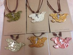 Dove/Cross necklaces | blankenship Farms pottery | Inverness Boutique jewelry