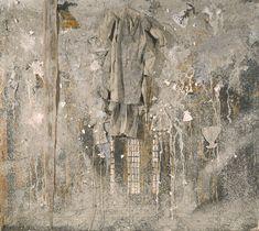 Anselm Kiefer (German, b. 1945), Ladder to the Sky, 1990-91. Emulsion, schellac, lead, ash, broken pieces of ceramics and glass, linen and snakeskin on canvas, 330 x 370 cm.viajimlovesart