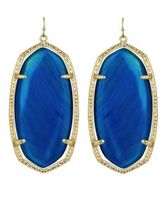Kendra Scott Danielle Earrings in Blue Agate. #KendraScott #KSadventure
